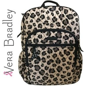 🆕️ Vera Bradley Leopard Large Campus Backpack